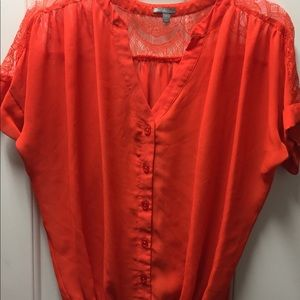 Charlotte Russe sheer lace top